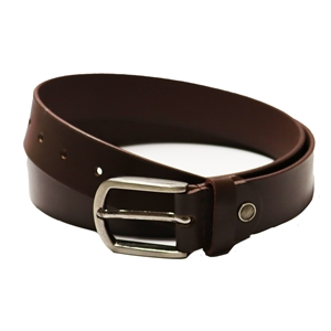 Birch Full Grain Leather Belt Smooth Finish 35mm Brown EX Large (40-44 Inch)