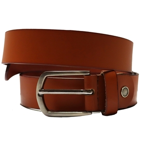 Birch Full Grain Leather Belt Smooth Finish 35mm Tan Large (36-40 Inch)