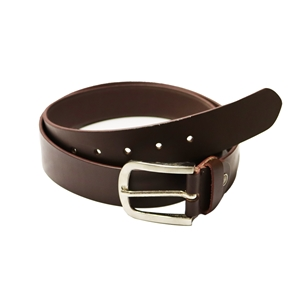Birch Full Grain Leather Belt Smooth Finish 40mm Brown Large (36-40 Inch)