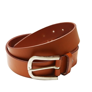 Birch Full Grain Leather Belt Smooth Finish 40mm Tan Large (36-40 Inch)