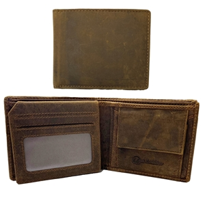 Birch Crazy Horse Distressed Leather Wallet with RFID
