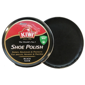 Kiwi Shoe Polish Black, 50ml Tin