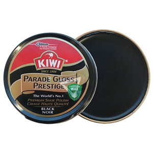 Kiwi Parade Gloss Prestige Polish Black, 50ml Tin