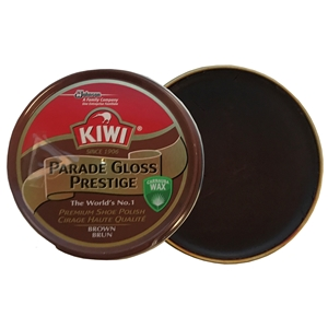 Kiwi Parade Gloss Prestige Polish Brown, 50ml Tin