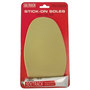 Soltrack DIY Rubber Stick On Soles, Gents Natural