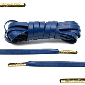 Loop King Leather Laces 75cm Navy Blue