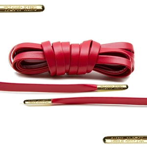 Loop King Leather Laces 90cm Red