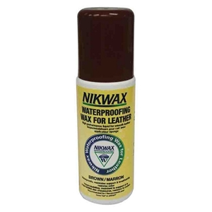 Nikwax WaterProofing Liquid Wax For Leather, Brown 125ml