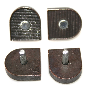 Leicester Metal 120 3/8 Round Pinned Toppieces