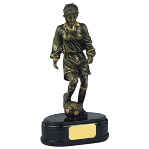 6 1/2 Inch Female Footballer Gold