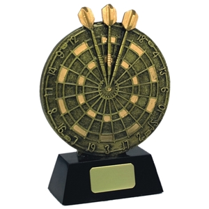 5 Inch Resin Dart Board Antique Gold With Gold Detail