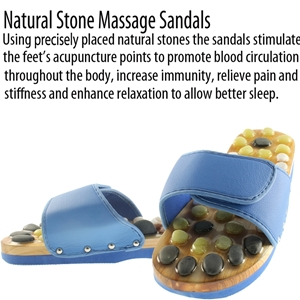Natural Stone Massage Sandals Dual Size 5-6 Medium - Blue