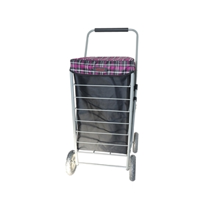 Large Four Wheel Shopping Trolley with Full Cage