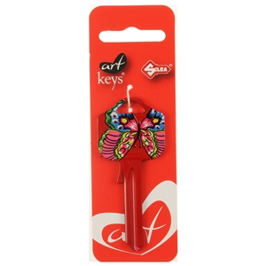 Art Key 5998 UL054 Butterfly On Red 219 On Red Silca Card