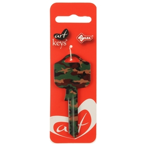 Art Key 5998 UL054 Camouflage P01 On Red Silca Card