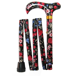 Five Fold Walking Stick Strawberry - Matching Handle