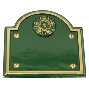 Cast Brass Traditional Sign Green 170 x 160 mm