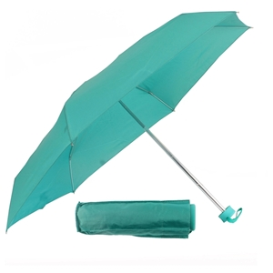 Ultra Mini Umbrella W/Rubberised Handle Teal Green