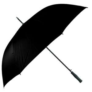 Golf Umbrella Auto Open Plain Black