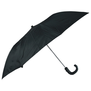Gents Budget Auto Umbrella Crook Handle Black