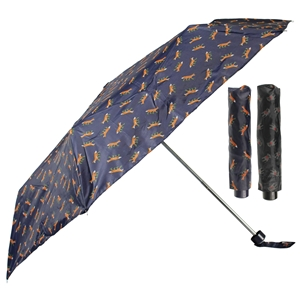 Super Mini Fox and Pug Umbrellas Assorted - Box Of 12