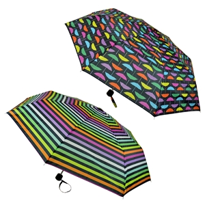 Super Mini Rainbow Print Umbrella - Box Of 12