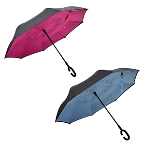Upside Down Umbrella, Colour- Black/Pink and Black/Blue