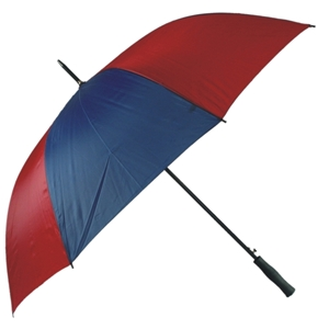 Budget Golf Auto Umbrella, Blue & Burgundy