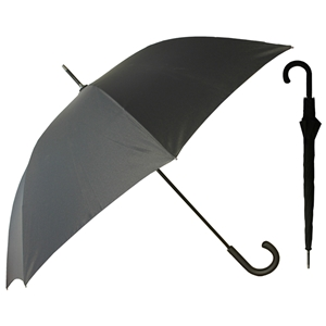 Superior Walking Auto Umbrella Rubberised Handle Black