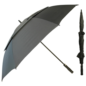 X-Strong Golf Auto Umbrella With Double Canopy, Black