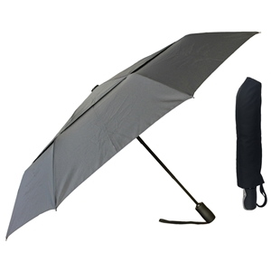 X-Strong Super Mini Full Auto Umbrella, Double Canopy, Black