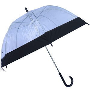 Betty Birch Clear Domed Umbrella Black