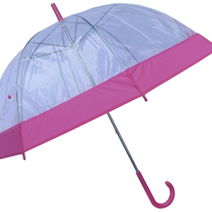 Betty Birch Clear Domed Umbrella Pink