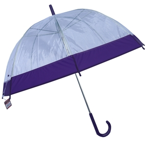 Betty Birch Clear Domed Umbrella Purple