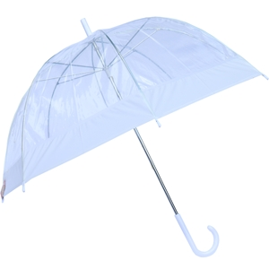 Betty Birch Clear Domed Umbrella White