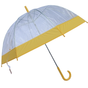 Betty Birch Clear Domed Umbrella Yellow