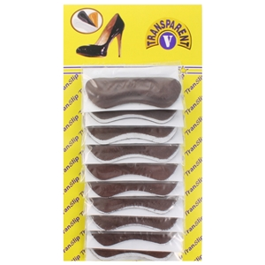 Translip Heel Grips - Brown (Card Of 20)