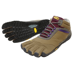FiveFingers Trek Ascent Ladie Insulated Size 36 UK 3.5 Khaki/Grape - 15W5304