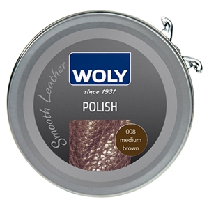 Woly Shoe Polish 50ml Med Brown