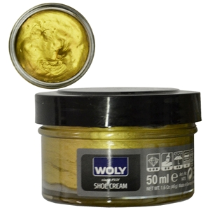 Woly Shoe Cream New Jar 50ml Gold 251/099