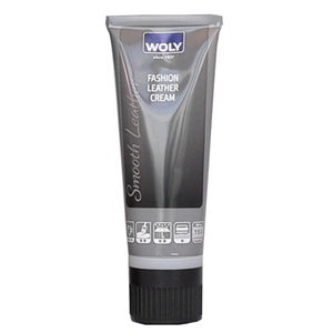 Woly Smooth Fashion Leather Cream 75ml Tube - Light Grey