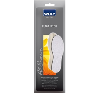 Woly Fun & Fresh Insoles Gents Size 10