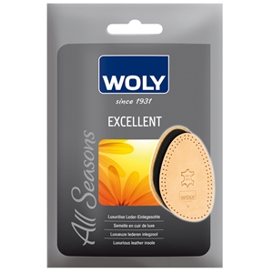Woly Excellent Luxury Leather 1/2 Insole Size 8/9
