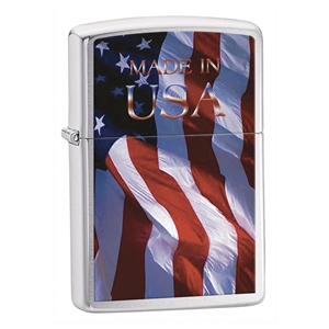 Zippo Brushed Chrome Lighter Made In Usa