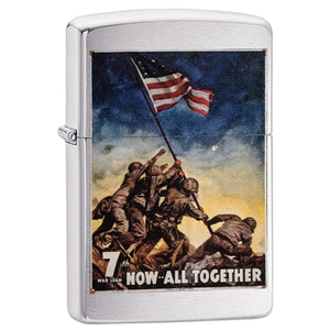 Zippo Lighter Brushed Chrome U.S. Marine Corps., Poster - Now All Together…