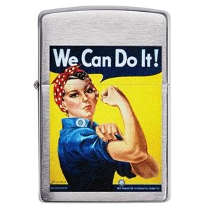 Zippo Lighter Brushed Chrome, We Can Do It!