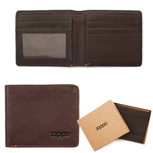 Zippo Leather, Bi-Fold Wallet Brown, 2005117