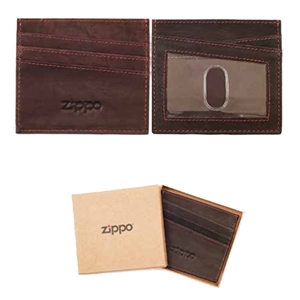 Zippo Leather, Credit Card Holder, Brown, 2005128