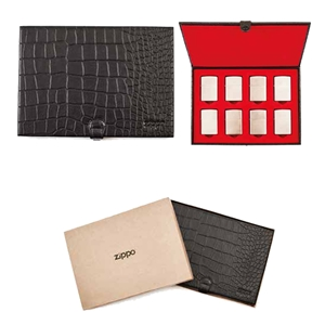Zippo Leather, Collectors Case Textured Black, 2005131