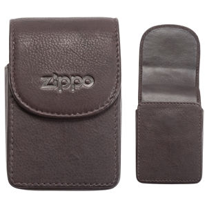 Zippo Leather Cigarette Case, Brown (Holds A Standard Pack Of 20 Cigarettes)